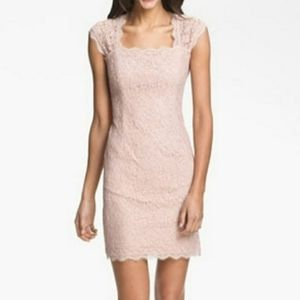 Adrianna Papell Blush Pink Cocktail Party Dress